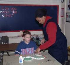 Estalinda Roberson & student