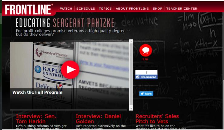 Educating Sergeant Pantzke